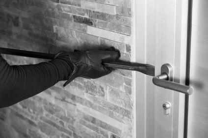Einbruchversuch an Hintertür